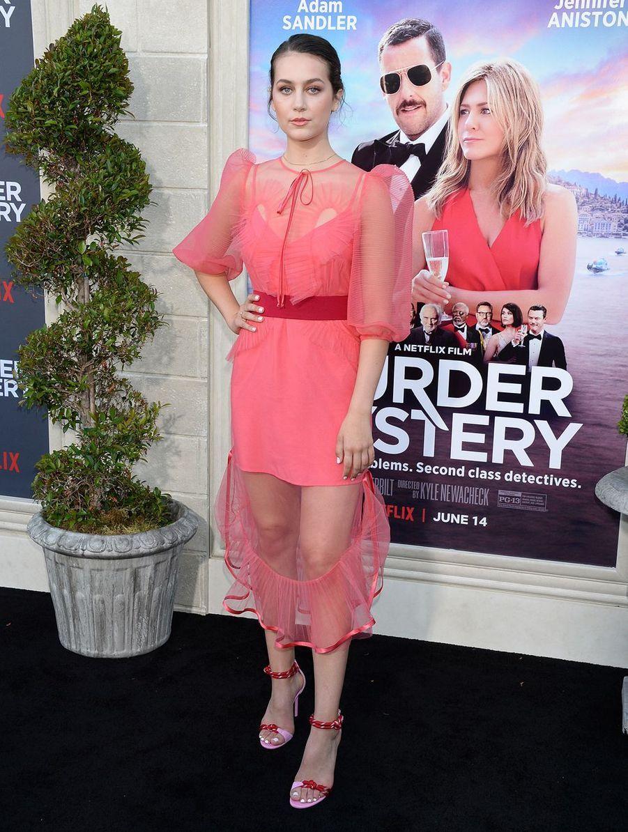 Emma Furhmann à la première du film«Murder Mystery» le 10 juin à Los Angeles.