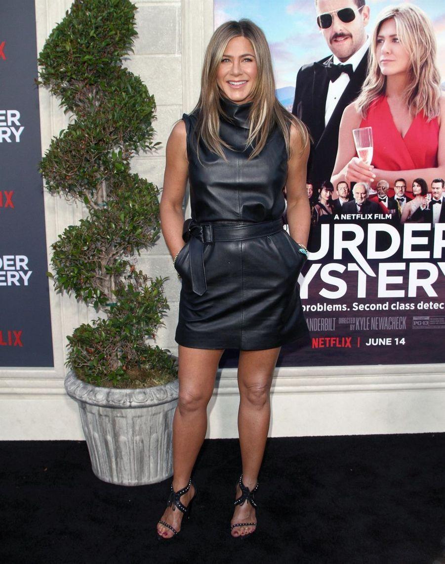 Jennifer Aniston à la première du film«Murder Mystery» le 10 juin à Los Angeles.