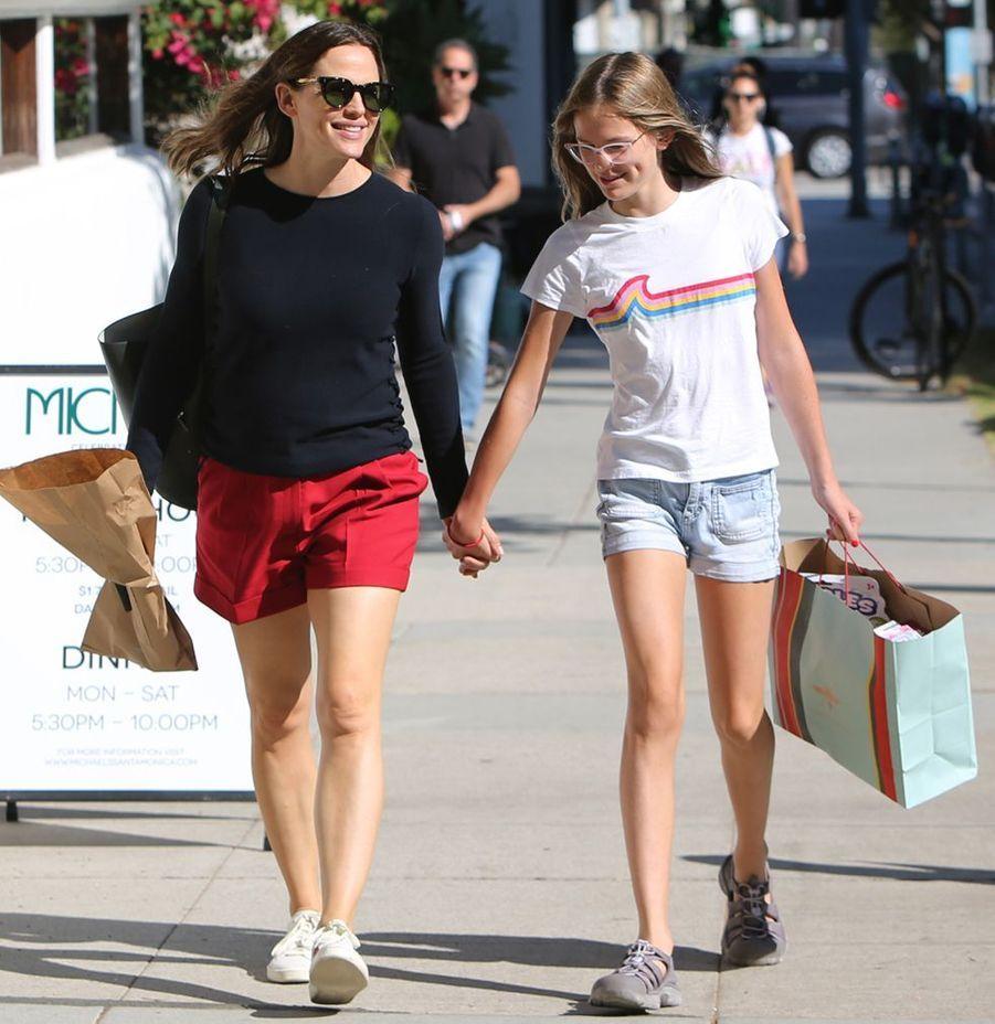 Jennifer Garner et sa fille Violet dans les rues de Los Angeles le 15 août 2019