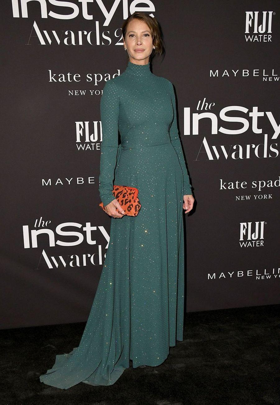 Christy Turlingtonà la soirée InStyle Awards à Los Angeles le 21 octobre 2019