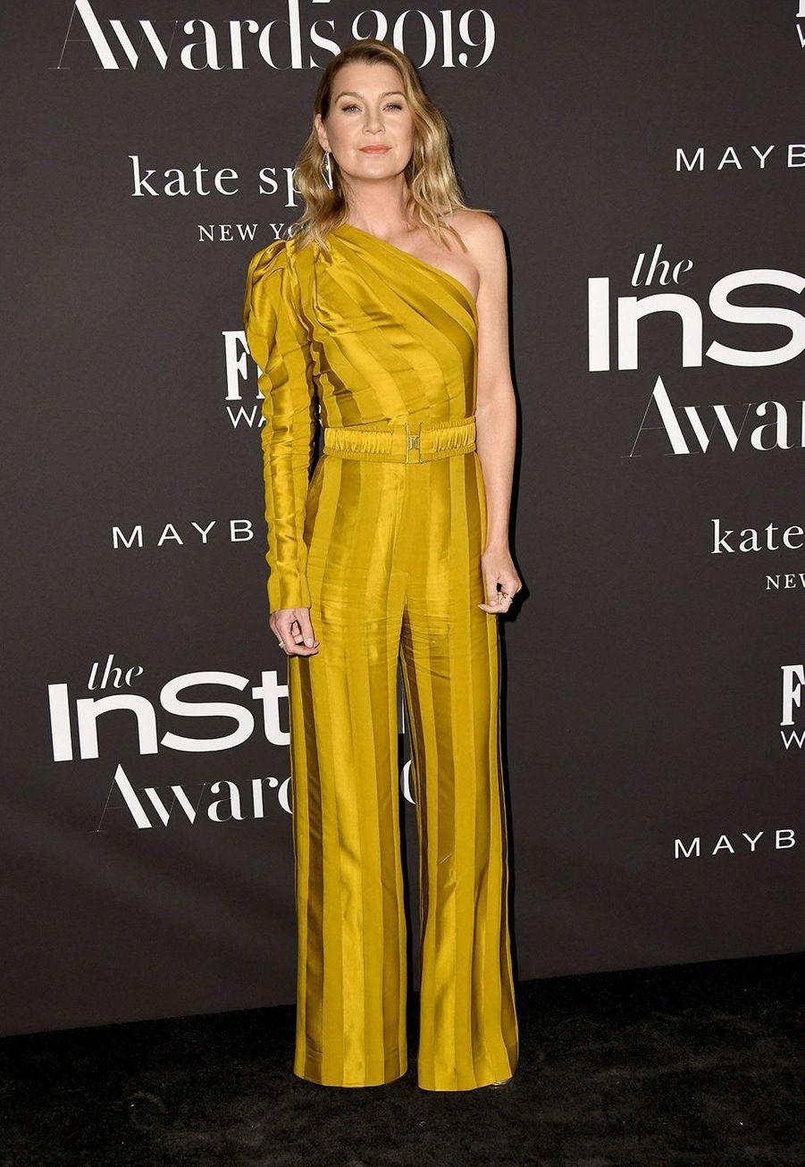 Ellen Pompeoà la soirée InStyle Awards à Los Angeles le 21 octobre 2019