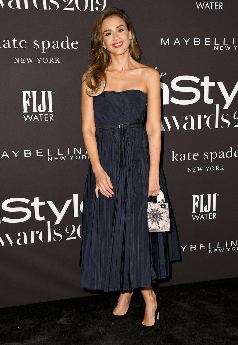 Jessica Albaà la soirée InStyle Awards à Los Angeles le 21 octobre 2019
