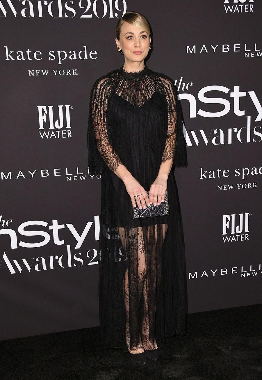 Kaley Cuocoà la soirée InStyle Awards à Los Angeles le 21 octobre 2019