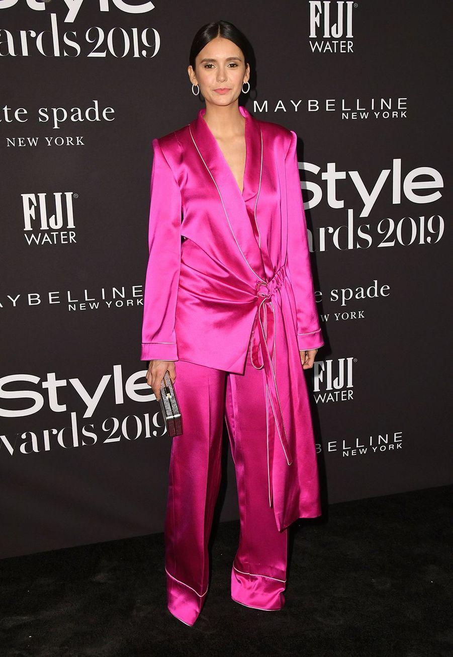 Nina Dobrevà la soirée InStyle Awards à Los Angeles le 21 octobre 2019