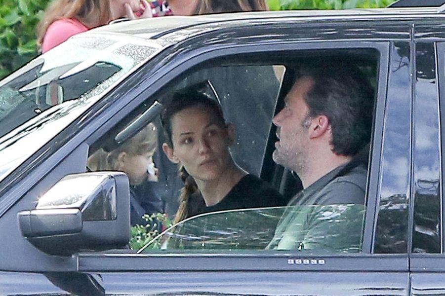 Ben Affleck et Jennifer Garner dans leur voiture