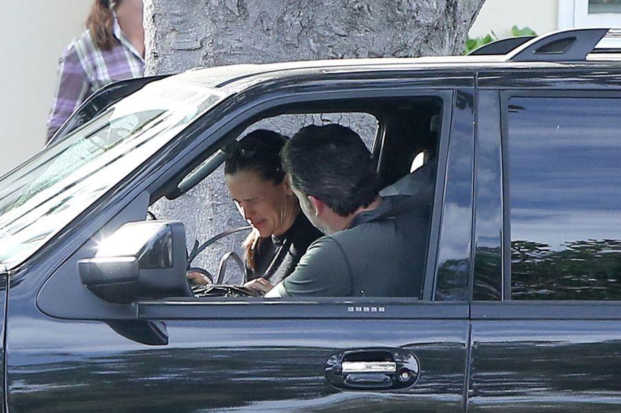 Dans leur voiture, Jennifer Garner et Ben Affleck