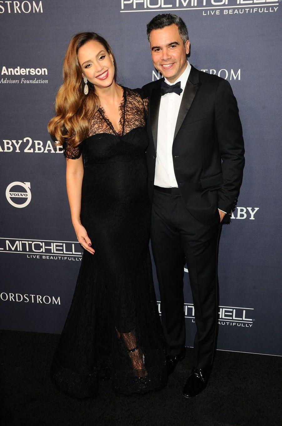 Jessica Alaba et Cash Warrenau gala Baby2Baby à Los Angeles, le 11 novembre 2017.