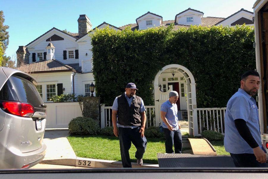 Vue de la nouvelle maison de Jennifer Garner dans le quartier de Pacific Palisades à Los Angeles, le 6 février 2019