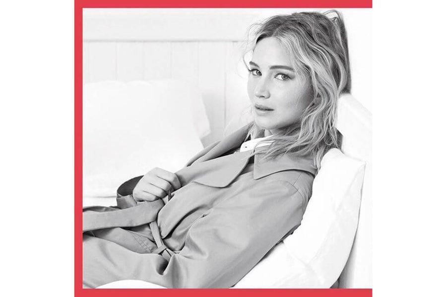 Jennifer Lawrence devant l'objectif de Brigitte Lacombe pour Dior
