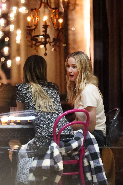 Jennifer Lawrence lors d'un dîner à New York le 21 février 2019