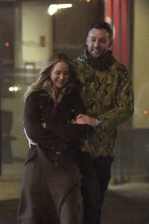 Jennifer Lawrence et son compagnon Cooke Maroney à New York le 2 février 2019