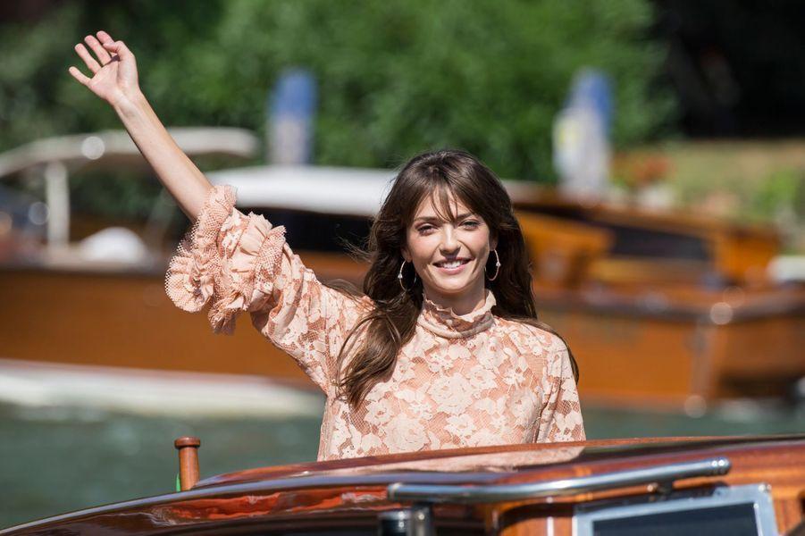 Annabelle Belmondo arrive à Venise.