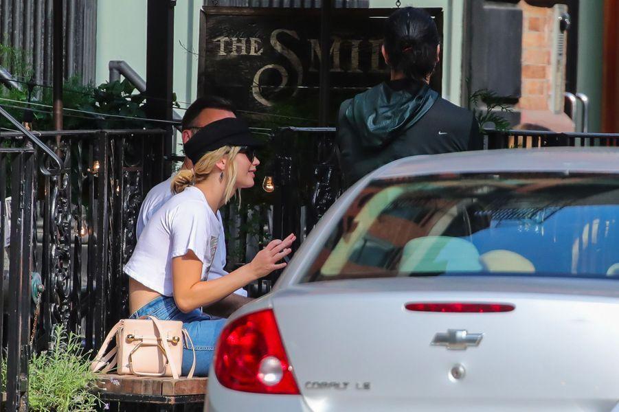 Jennifer Lawrence et Cooke Maroney à New York, le 29 juillet 2018