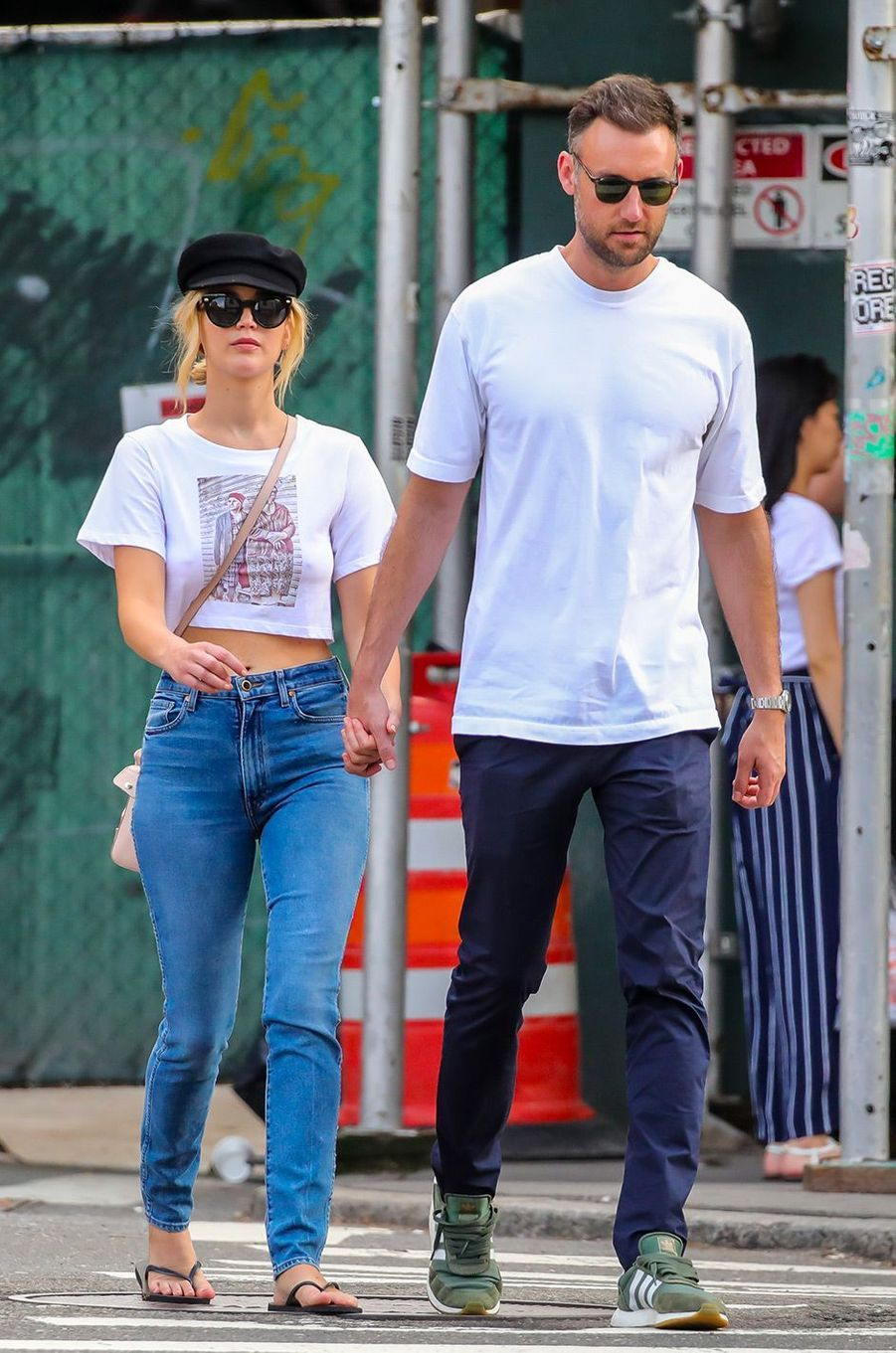 Jennifer Lawrence et Cooke Maroney à New York, le 29 juillet 2018