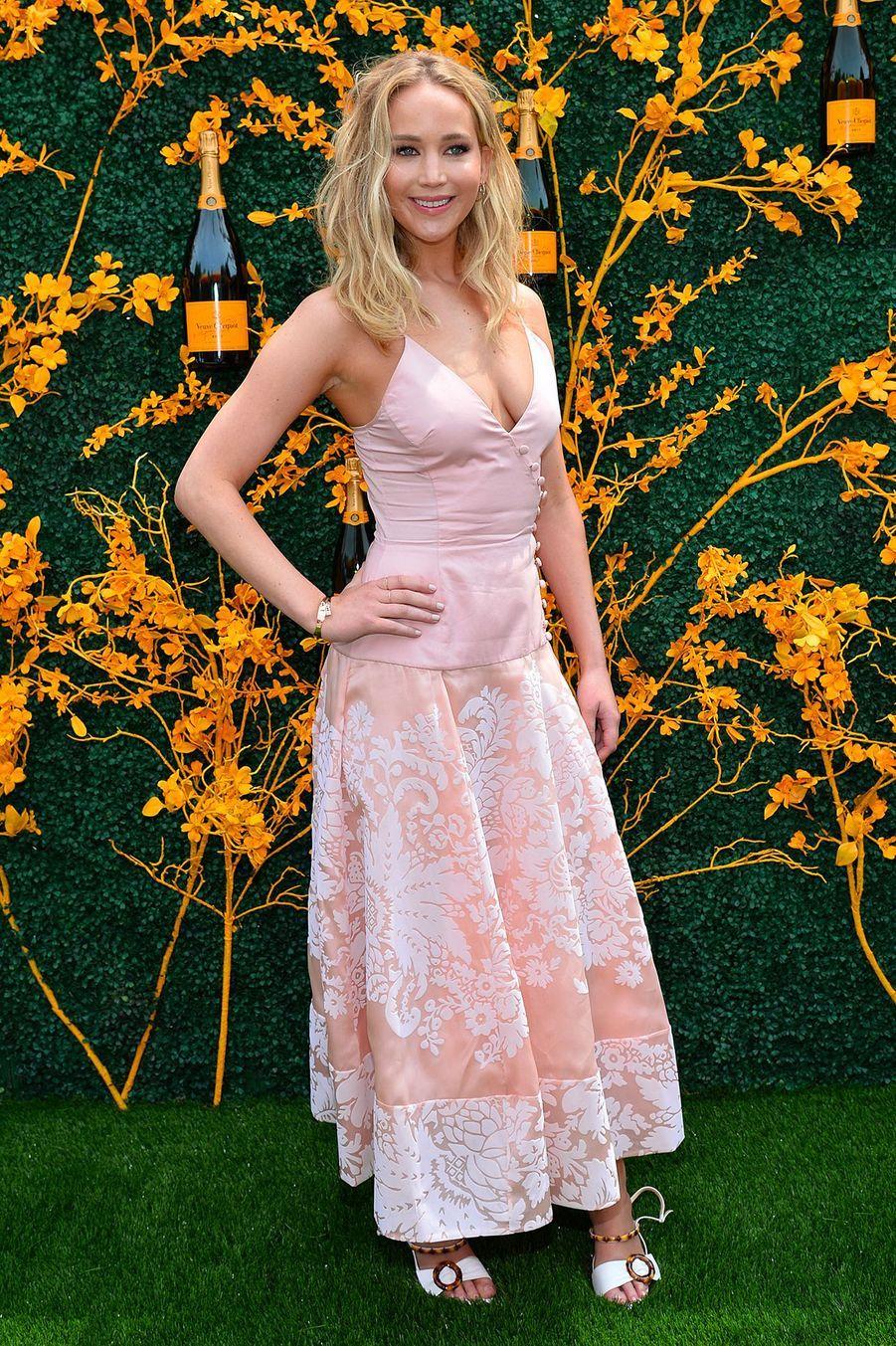 L'actrice Jennifer Lawrence lors de la 12eédition du Veuve Clicquot Polo Classic, auLiberty State Park (New Jersey), le 01 juin 2019.