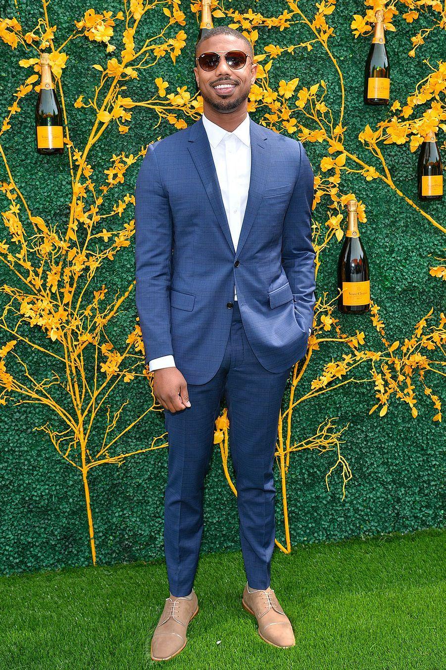 L'acteur Michael B. Jordanlors de la 12eédition du Veuve Clicquot Polo Classic, au Liberty State Park (New Jersey), le 01 juin 2019.
