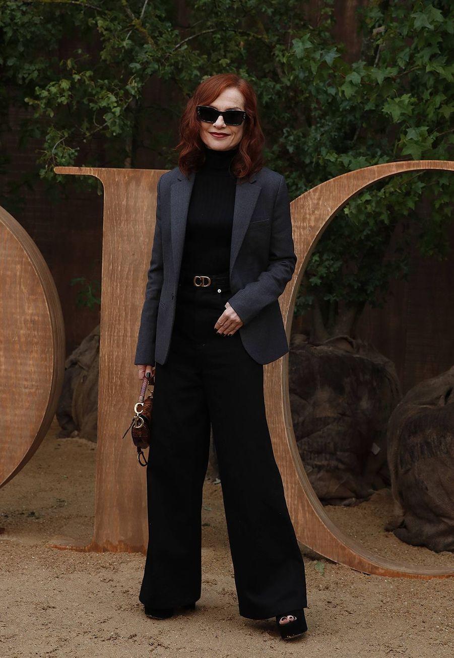 Isabelle Huppertà la présentation des collections femme printemps-été 2020 de la maison Dior à Paris le 24 septembre 2019