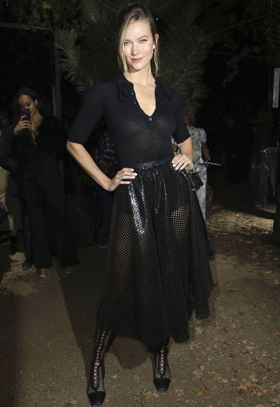 Karlie Klossà la présentation des collections femme printemps-été 2020 de la maison Dior à Paris le 24 septembre 2019