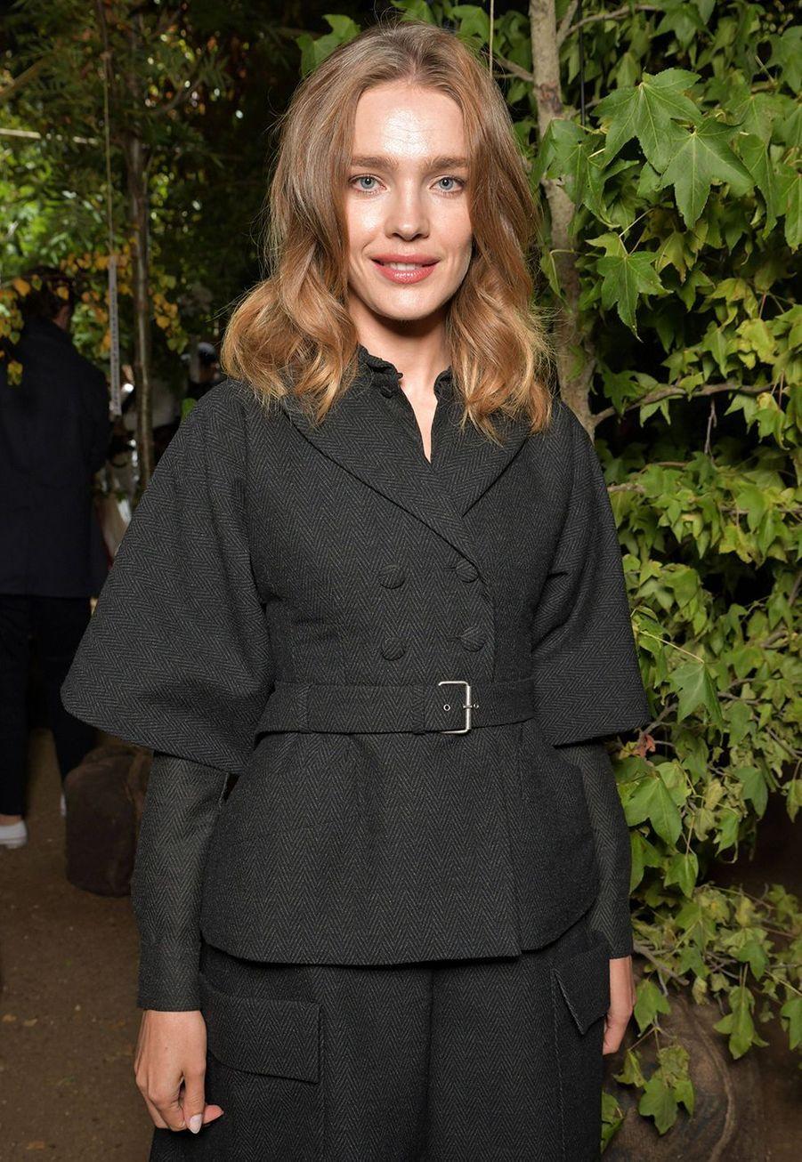 Natalia Vodianovaà la présentation des collections femme printemps-été 2020 de la maison Dior à Paris le 24 septembre 2019