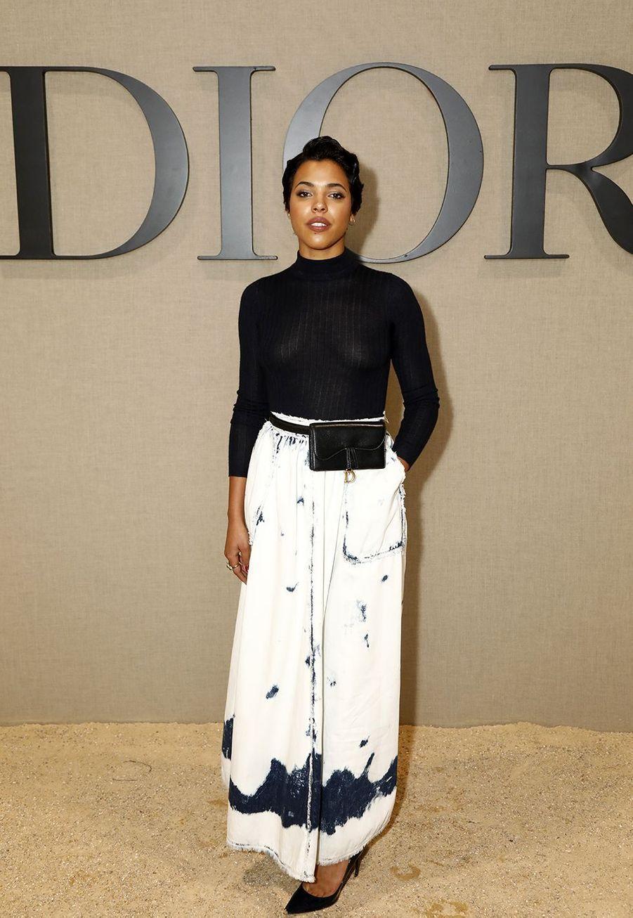 Zita Hanrotà la présentation des collections femme printemps-été 2020 de la maison Dior à Paris le 24 septembre 2019