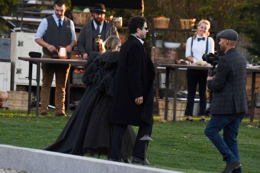 Ashley Olsen et Louis Eisner lors du mariage de Jennifer Lawrence et Cooke Maroney àRhode Island le dimanche 22 octobre2019.