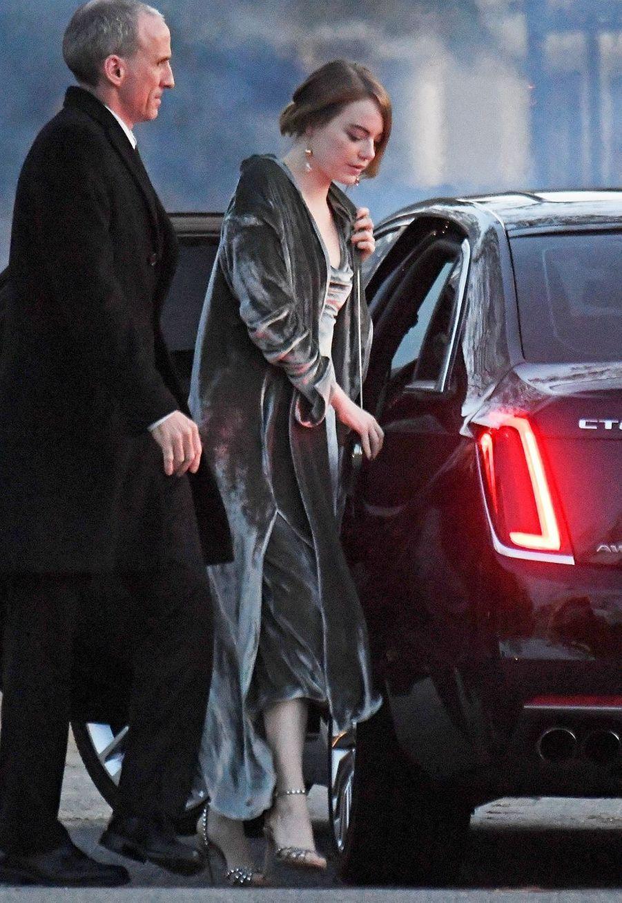 Emma Stone lors du mariage de Jennifer Lawrence et Cooke Maroney àRhode Island le dimanche 22 octobre2019.