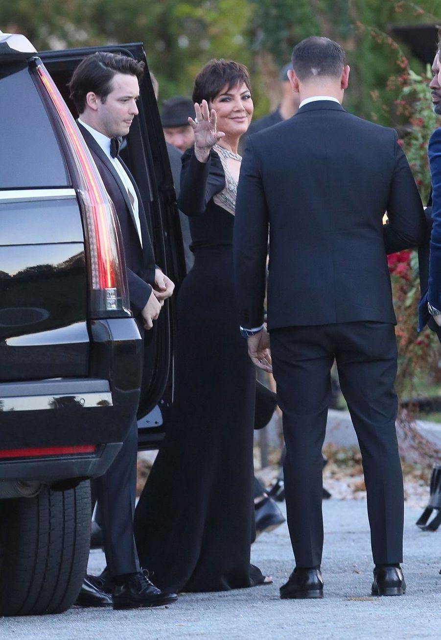 Kris Jenner lors du mariage de Jennifer Lawrence et Cooke Maroney àRhode Island le dimanche 22 octobre2019.