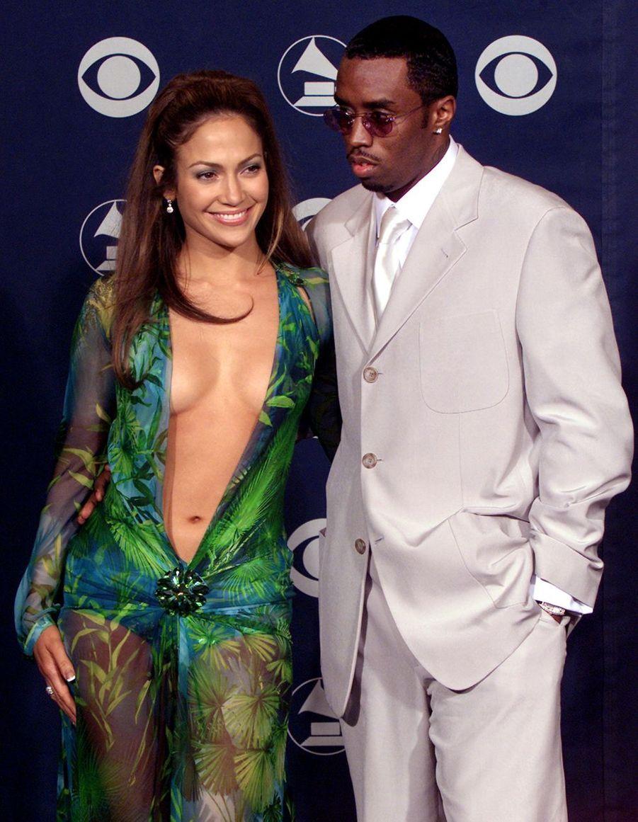 Jennifer Lopez en 1999 (avec P. Diddy)
