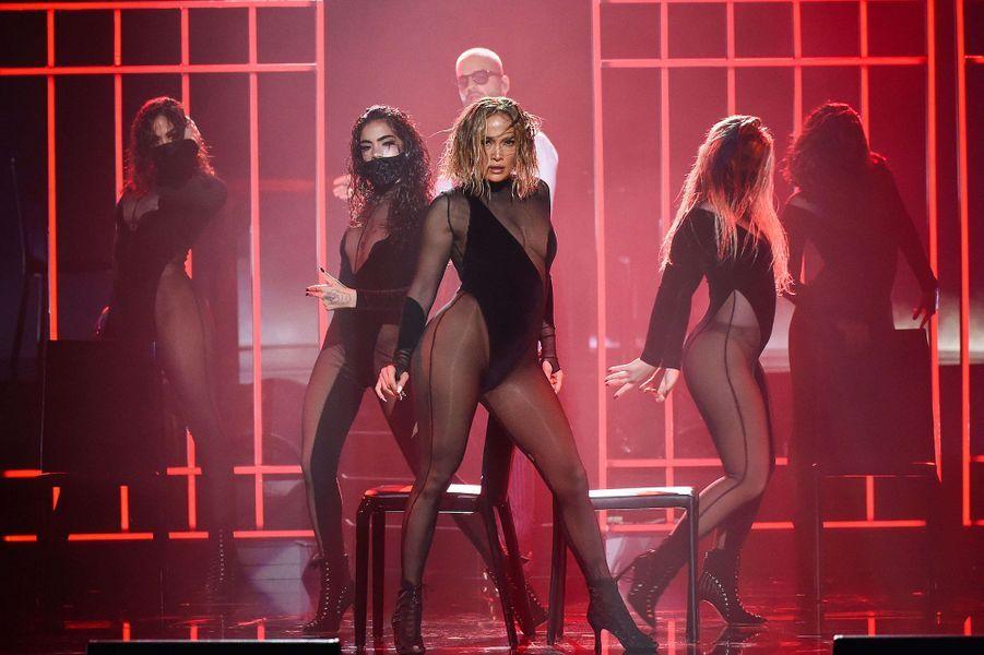 Jennifer Lopezaux American Music Awards à Los Angeles le 22 novembre 2020