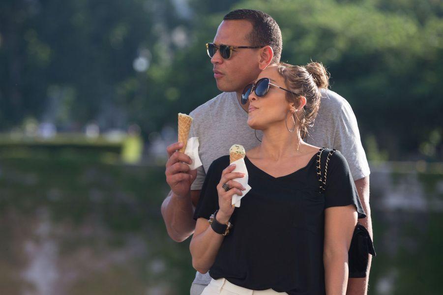 Jennifer Lopez et Alex Rodriguez : une pause gourmande.