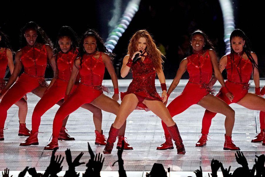 Shakira sur la scène du Super Bowl à Miami le 2 février 2020
