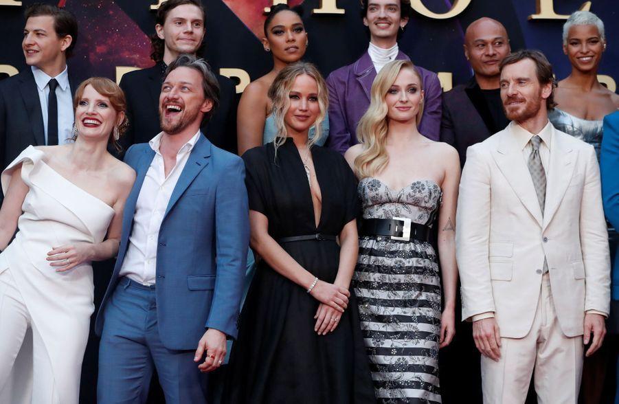 """L'équipe de """"Dark Phoenix""""à Los Angeles, le 4 juin 2019"""