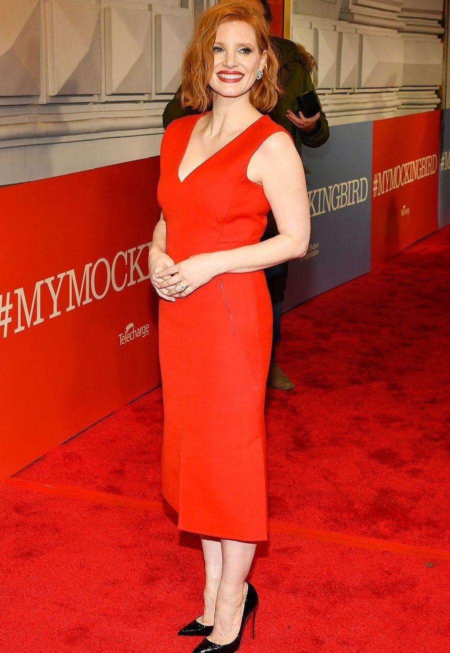 Jessica Chastain à New York jeudi soir
