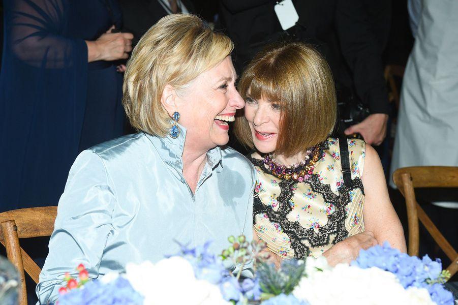 Hillary Clinton et Anna Wintour à la soirée des 50 ans de Ralph Lauren à New York, vendredi 7 septembre