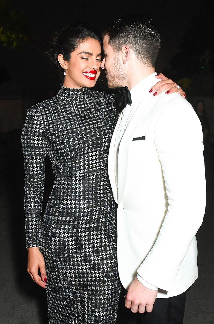 Priyanka Chopra et Nick Jonas à la soirée des 50 ans de Ralph Lauren à New York, vendredi 7 septembre