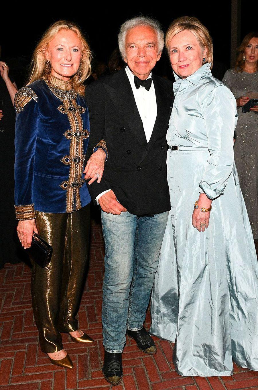 Ralph Laurent et Hillary Clinton à la soirée des 50 ans de Ralph Lauren à New York, vendredi 7 septembre