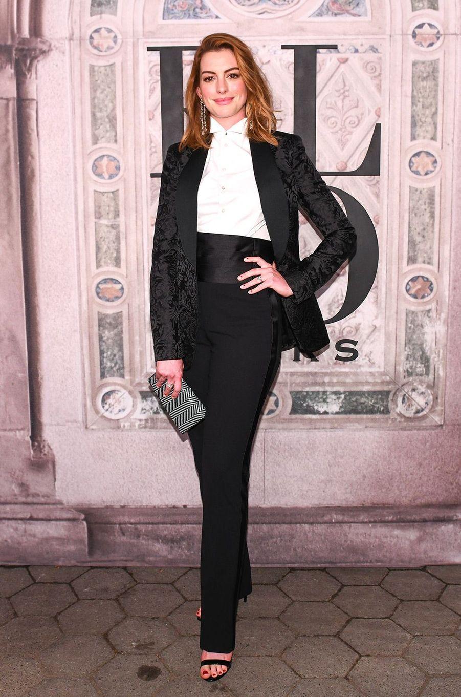 Anne Hathaway à la soirée des 50 ans de Ralph Lauren à New York, vendredi 7 septembre