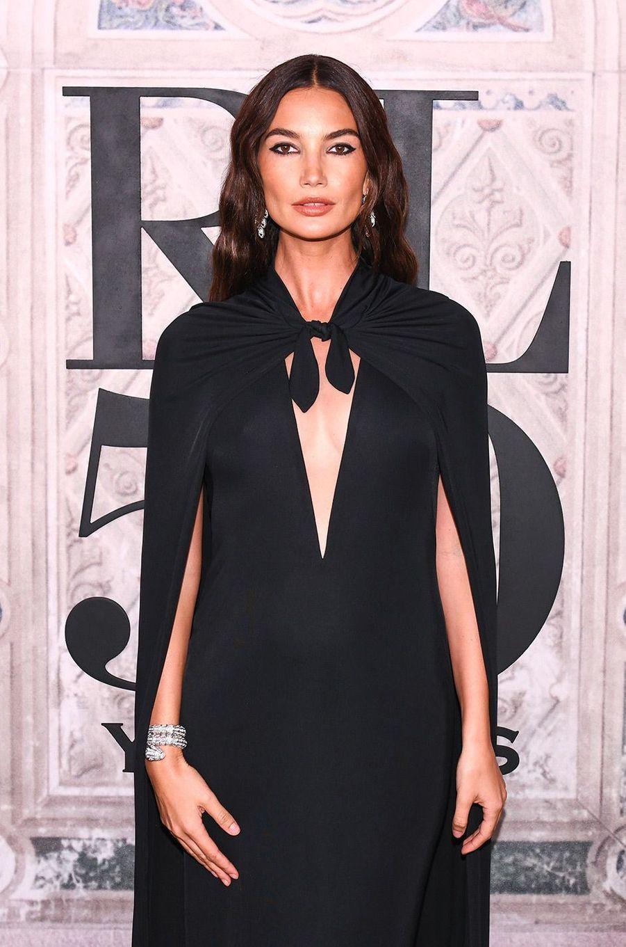Lily Aldridge à la soirée des 50 ans de Ralph Lauren à New York, vendredi 7 septembre