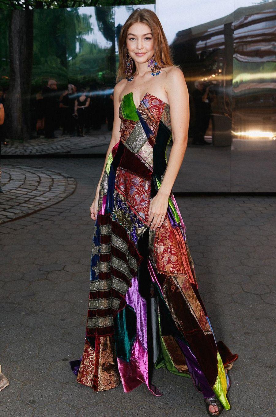 Gigi Hadid à la soirée des 50 ans de Ralph Lauren à New York, vendredi 7 septembre