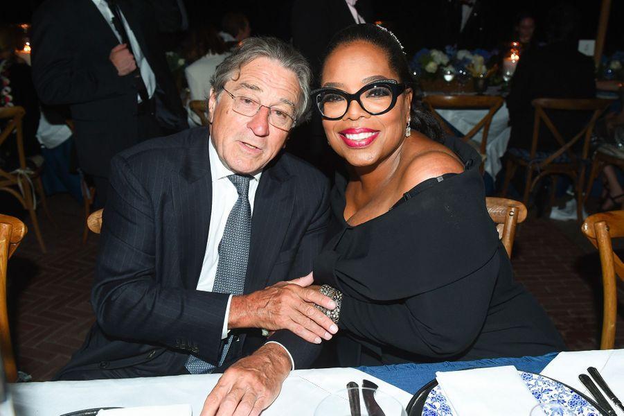 Oprah Winfrey et Robert de Niro à la soirée des 50 ans de Ralph Lauren à New York, vendredi 7 septembre