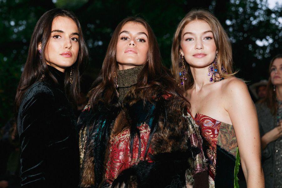 Kaia Gerber et Gigi Hadid à la soirée des 50 ans de Ralph Lauren à New York, vendredi 7 septembre