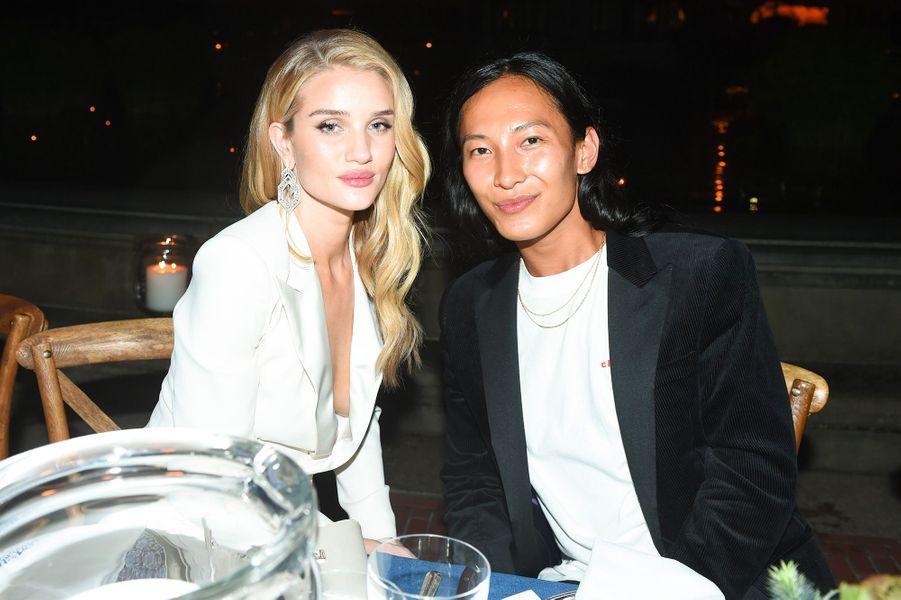 Rosie Huntington-Whiteley et Alexander Wang à la soirée des 50 ans de Ralph Lauren à New York, vendredi 7 septembre