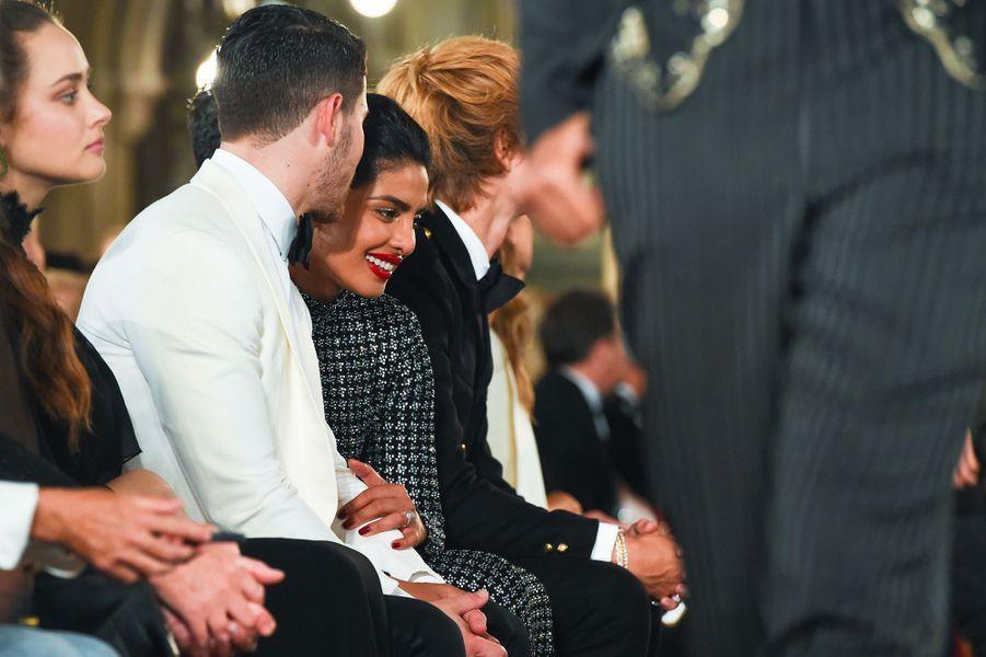 Nick Jonas et Priyanka Chopra à la soirée des 50 ans de Ralph Lauren à New York, vendredi 7 septembre