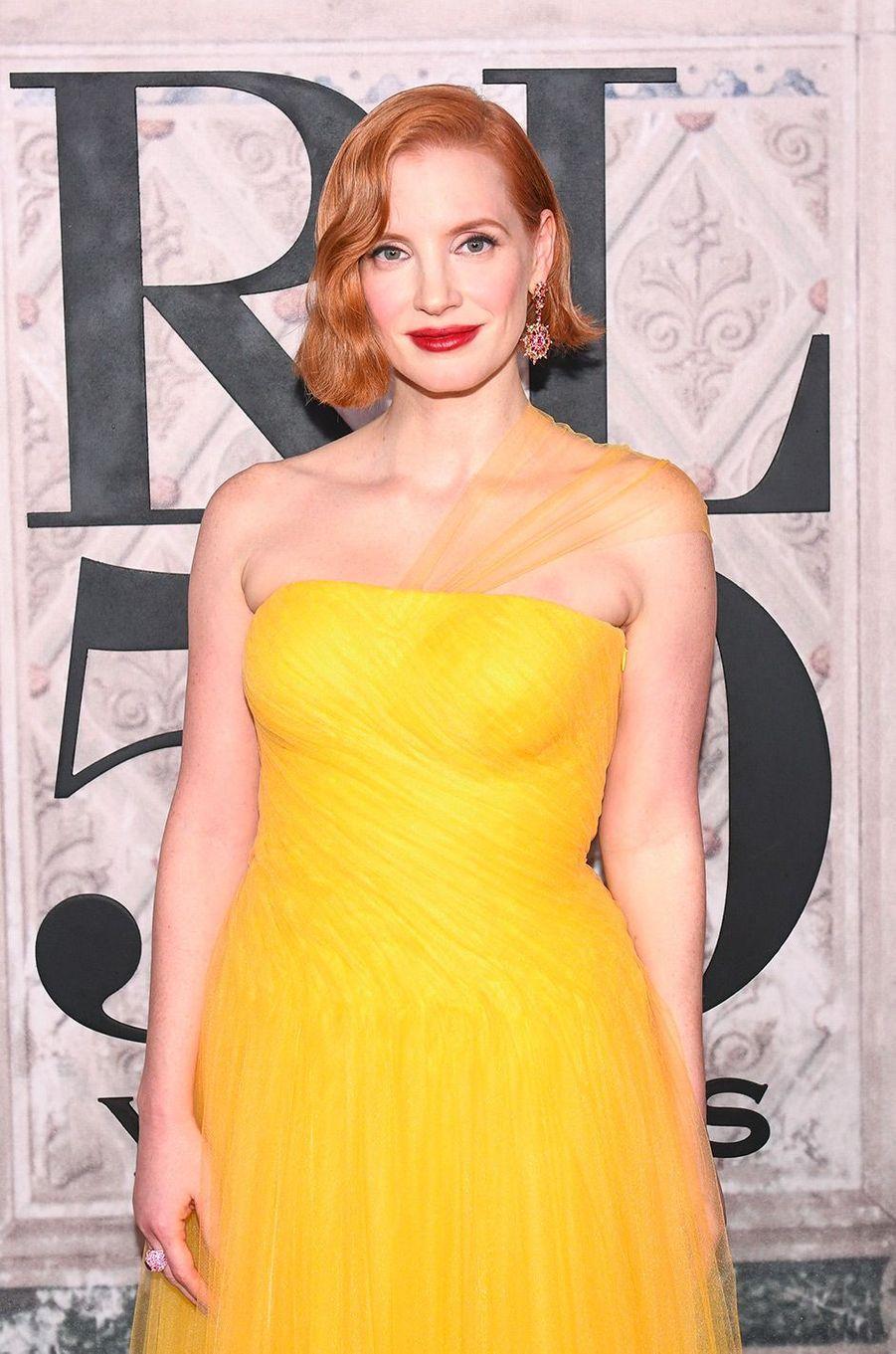 Jessica Chastain à la soirée des 50 ans de Ralph Lauren à New York, vendredi 7 septembre