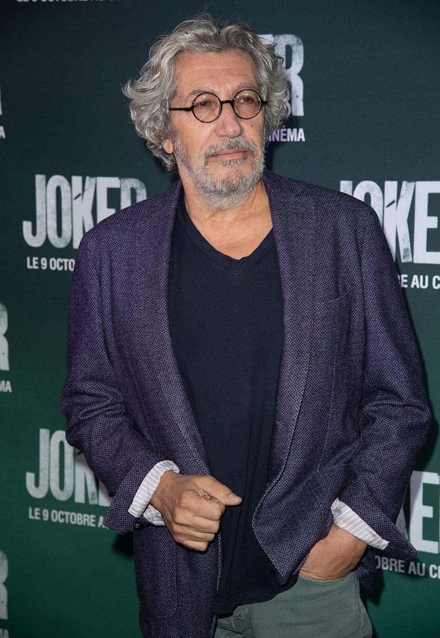 Alain Chabatà la première du film «Joker» à l'UGC Normandie à Paris le 23 septembre 2019