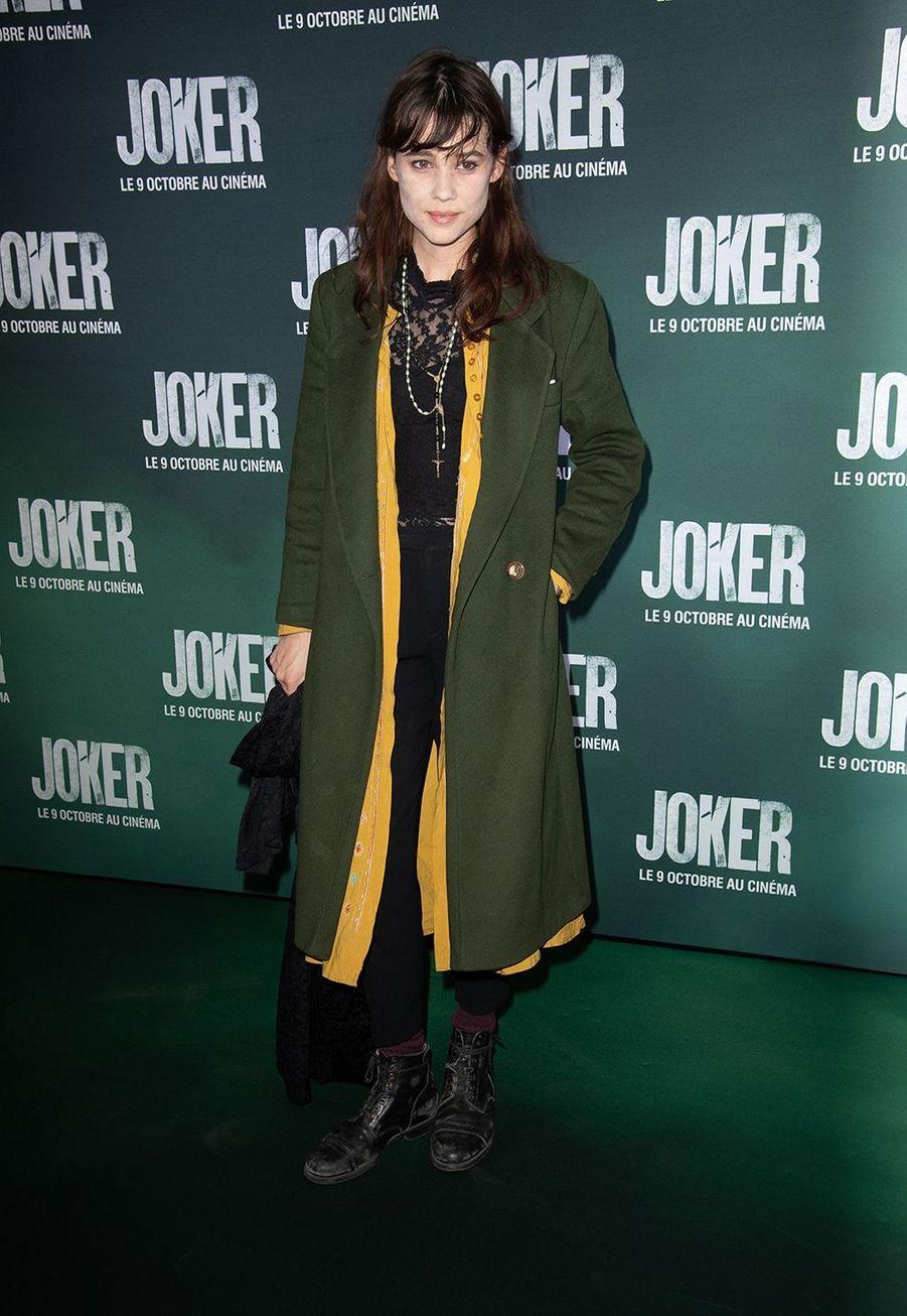 Astrid Bergès-Frisbeyà la première du film «Joker» à l'UGC Normandie à Paris le 23 septembre 2019