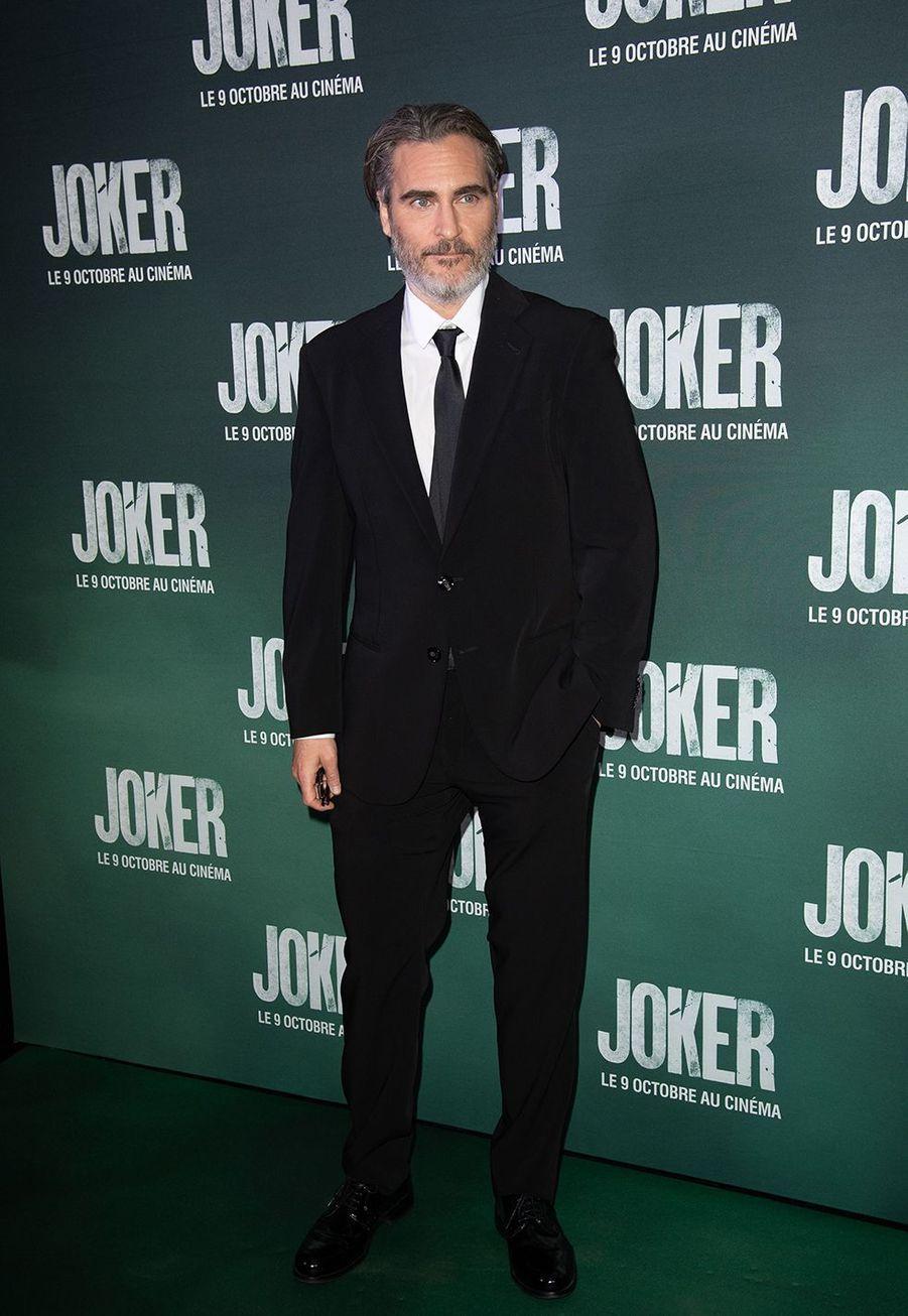 Joaquin Phoenix à la première du film «Joker» à l'UGC Normandie à Paris le 23 septembre 2019