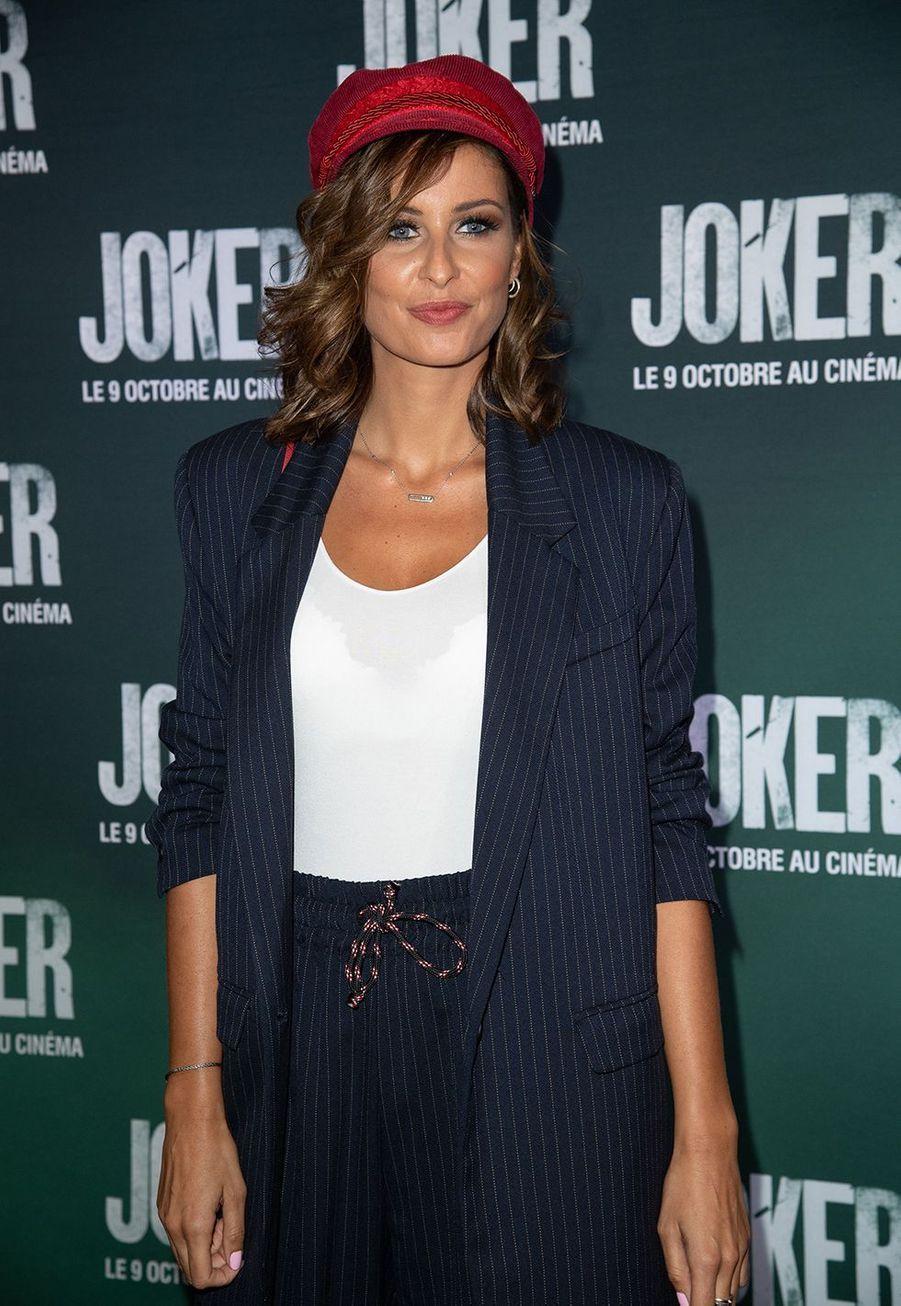 Malika Ménardà la première du film «Joker» à l'UGC Normandie à Paris le 23 septembre 2019