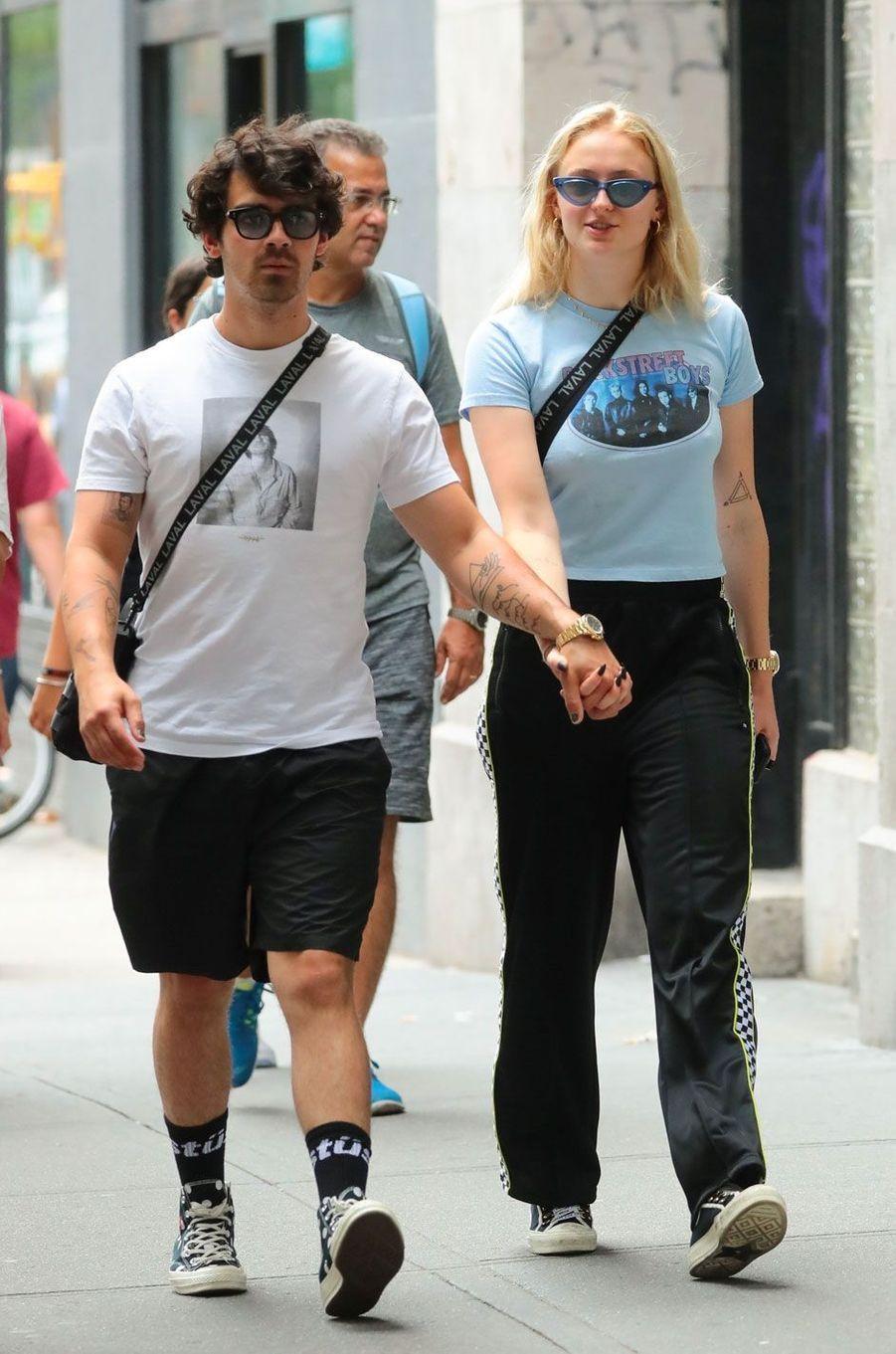 Joe Jonas et Sophie Turner à New York le 31 juillet 2018