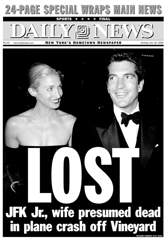 Le « Daily News » du 18 juillet 1999 annonce déjà la « disparition » de John et de safemme. Les corps ne seront retrouvés que dans la nuit du 20 juillet, par 37 mètres deprofondeur.